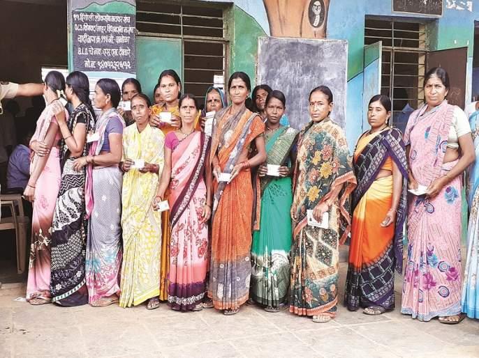 Maharashtra Election 2019 : 65% voting in Nanded district; Lowest turnout in Nanded North constituency | Maharashtra Election 2019 : नांदेड जिल्ह्यात ६५ टक्के मतदान; सर्वात कमी मतदान नांदेड उत्तर मतदार संघात