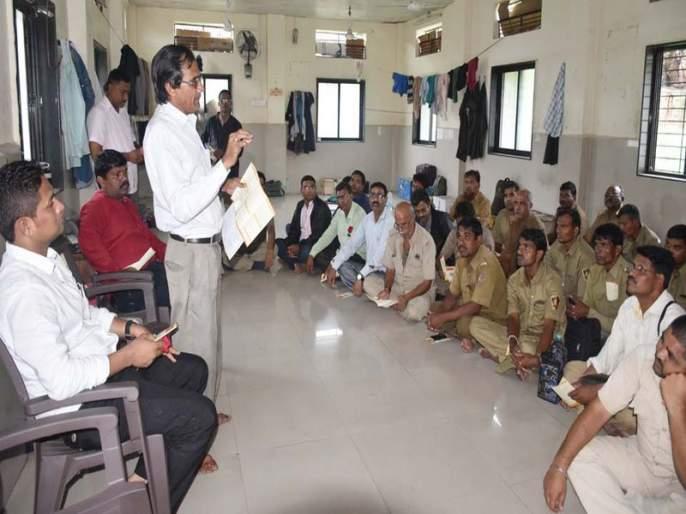 Workshop of Labor Welfare Board at Nandurbar Agra | नंदुरबार आगारात कामगार कल्याण मंडळाचा उपक्रम