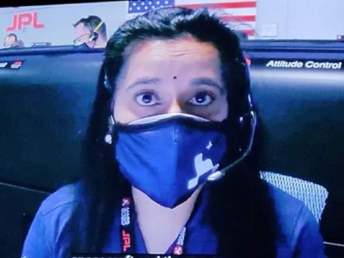 NASA Mars Mission: spacecraft landed Dr. Swati Mohan's bindi Photo Viral on Social media   NASA Mars Mission: 'बिंदी' चमकली; मंगळावर यान उतरताच सोशल मिडीयावर व्हायरल झाल्या डॉ. स्वाती मोहन