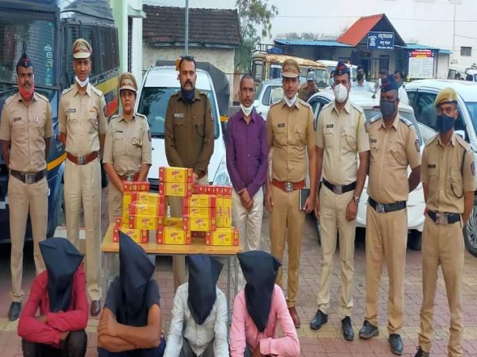 Gutkha brought from Rajasthan directly to Nashik via Saputara in two containers; Cut to the chase by the police | राजस्थानमधून सापुतारा मार्गे थेट नाशकात दोन कंटेनर भरून आणला गुटखा; पोलिसांनी उधळला कट