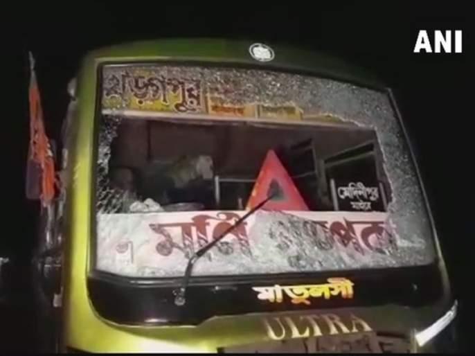 Amit Shah rallies today, stone pelting on the BJP workers' bus | कोलकात्यात अमित शहांची रॅली, भाजप कार्यकर्त्यांच्या बसवर दगडफेक