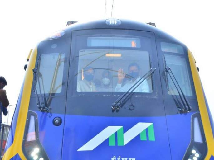 6 coach metro mumbai trial run successful   लयभारी! ६ डब्यांची मेट्रो आली हो...चारकोप आगारात झाली यशस्वी चाचणी!