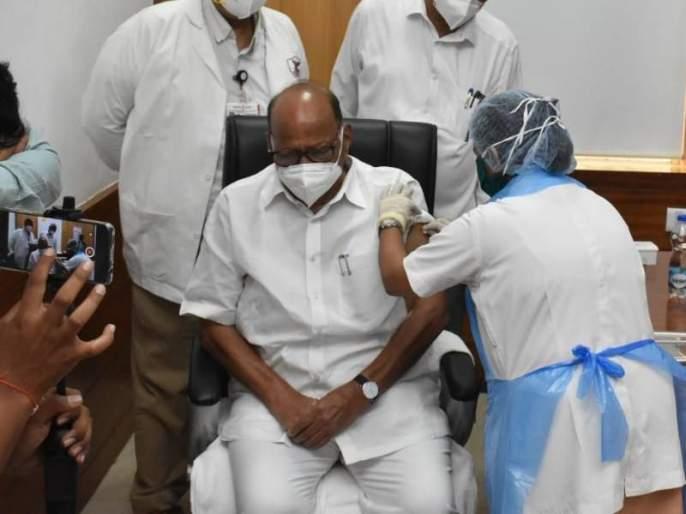 sharad pawar takes covid vaccine in mumbai j j hospital | Sharad Pawar Covid Vaccine : मोठी बातमी! पंतप्रधान मोदींपाठोपाठ शरद पवारांनीही टोचून घेतली कोरोनाची लस