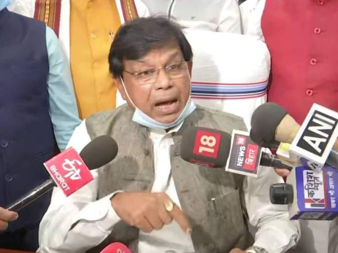 Bihar Education Minister Mewa Lal Choudhary resigns   नितीश कुमार सरकारला झटका; ७२ तासांत मंत्र्याचा राजीनामा