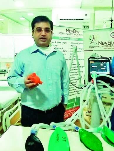 Artificial respiration for eight patients with a ventilator | एका व्हेंटिलेटरमधून आठ रुग्णांना कृत्रिम श्वास