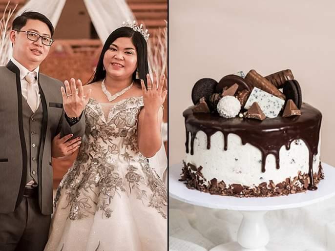 Couple gets thermocol cake after pays Rs 5 lakh for wedding catering | लग्नात कॅटरिंगवाल्यांना दिले ५ लाख रुपये, कपलने केक कापला आणि....