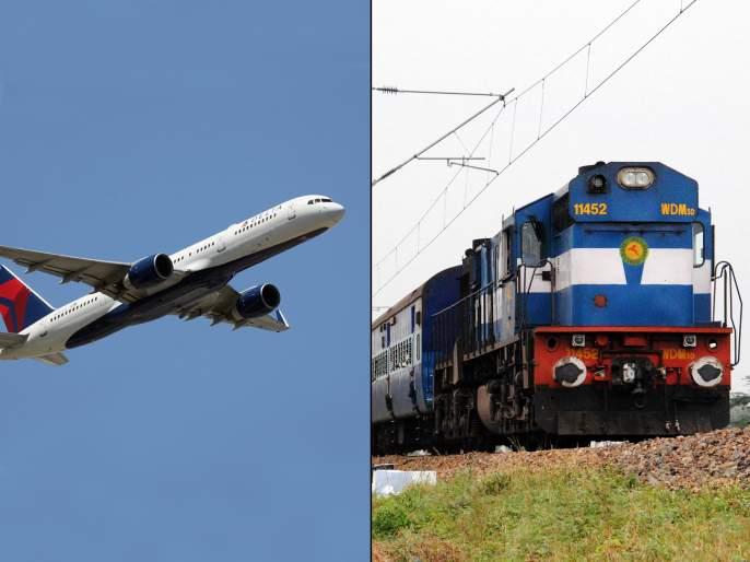 Thief flees via train police takes flight to catch him | चोरी करून 'तो' ट्रेनने जात होता, पोलीस विमानाने त्याच्या मागे गेले अन्....