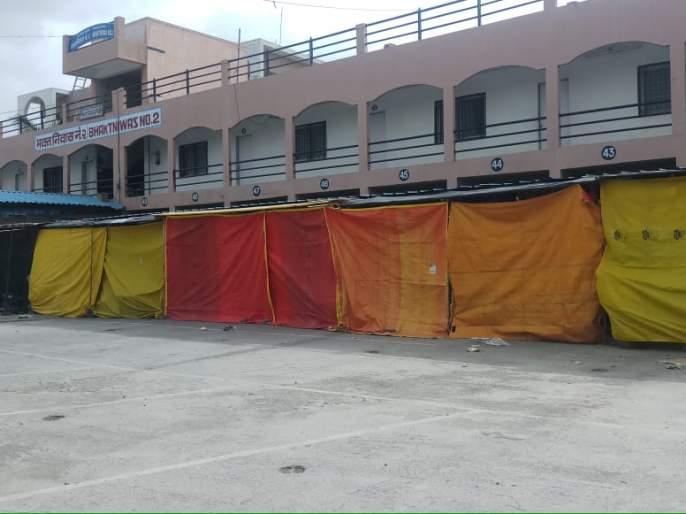 The closure of the Shaneshwar Temple premises for the first time | शनैश्वर देवस्थानचे गाळे प्रथमच बंद