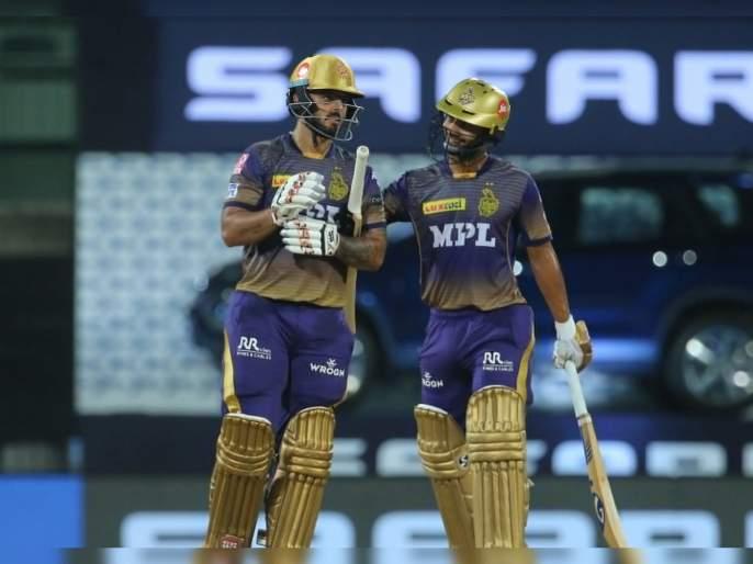 IPL 2021, KKR vs SRH T20 Live : Nitish Rana & Rahul Tripathi Two half-centurions; KKR have posted 187 for 6   IPL 2021, KKR vs SRH T20 Live : कोलकाताची युवा ब्रिगेड सॉलिड खेळली; नितीश राणानं ८० पैकी ६० धावा अवघ्या १३ चेंडूंत चोपल्या