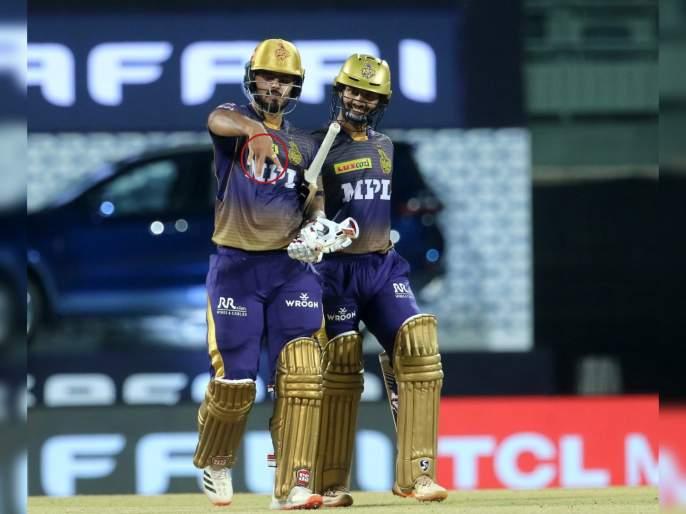 IPL 2021, KKR vs SRH T20 Live : Nitish Rana celebration fifty with showing fingers, know the reason   IPL 2021, KKR vs SRH T20 Live : नितीश राणानं अर्धशतकाचं सेलिब्रेशन केलं खास स्टाईलमध्ये, त्यामागे आहे विशेष कारण!