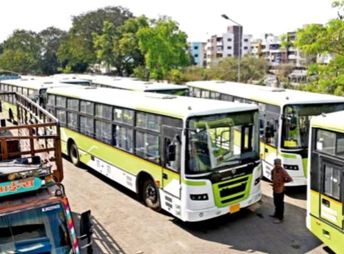 Corporation's bus service will be delayed without government permission   शासकीय परवानगीविना रखडणार मनपाची बससेवा
