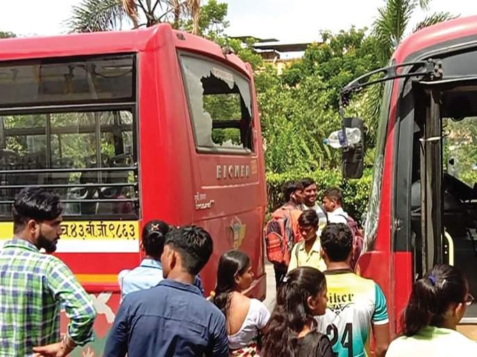 NMMT bus accident | एनएमएमटीच्या दोन बसचा अपघात