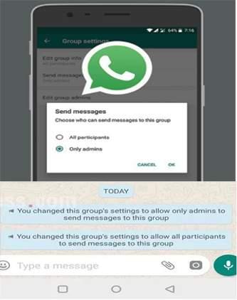 Changed WhatsApp setting for 'highest' result ... only admin | 'सर्वोच्च' निकालासाठी बदलली व्हॉटसअप सेटिंग...ओन्ली अॅडमिन