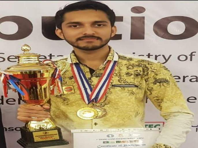Nubair Shah Sheikh Gold in SAARC Chess Tournament | सार्क बुद्धिबळ स्पर्धेत नुबैरशाह शेखला सुवर्ण