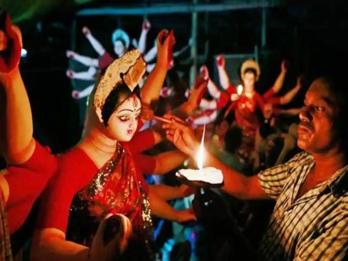 Garba, not Dandiya in Navratri; Idol of Goddess up to 4 feet | नवरात्रौत्सवात गरबा, दांडिया नाहीच; देवीची मूर्ती ४ फुटांपर्यंत