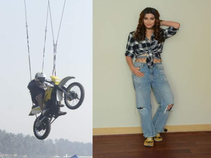 Nyra Banerjee performs an aerial bike stunt for Divya Drishti | नीरा बॅनर्जीने 'दिव्य दृष्टी' मालिकेत केला थरारक स्टंट