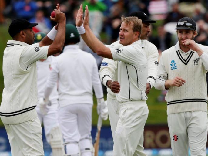 IND vs NZ: New Zealand player takes break from Test series to spend time with his wife   IND vs NZ : बायकोबरोबर वेळ व्यतित करण्यासाठी न्यूझीलंडच्या खेळाडूने कसोटी मालिकेतून घेतला ब्रेक