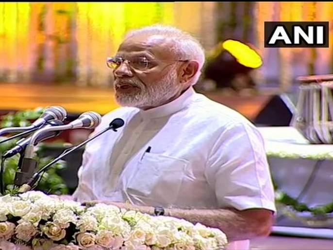 PM Narendra Modi at the condolence meet for late former Union Minister & BJP leader Sushma Swaraj in Delhi | सुषमा स्वराज यांनी 'प्रोटोकॉल'ला 'पीपल्स कॉल'मध्ये परावर्तित केलं- नरेंद्र मोदी