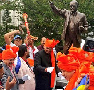 Dr. in Japan Unveiling the statue of Babasaheb Ambedkar | जपानमध्ये डॉ. बाबासाहेब आंबेडकर यांच्या पुतळ्याचे अनावरण
