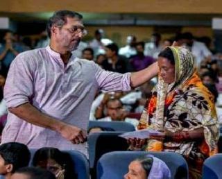 It is a crime to be silent on drought - Nana Patekar | दुष्काळावर शांत राहणे हा गुन्हा - नाना पाटेकर