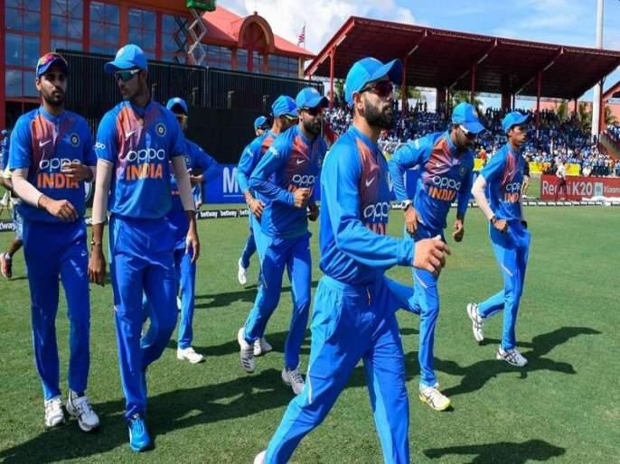 New logo on Team India jersey; 'Oppo' out of half of it contract canceled   टीम इंडियाच्या जर्सीवर नवा लोगो; 'ओप्पो' अर्ध्यातूनच 'आउट'
