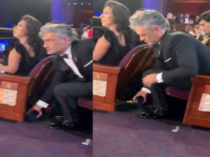 Oscar 2020: Shocking JoJo Rabbit Director Was Hiding His Oscar Trophy Under His Chair | Oscar 2020: या दिग्गज दिग्दर्शकाने ऑस्कर ट्रॉफीचा केला अवमान, कॅमे-यात कॅप्चर झाला सोहळ्यातील कारनामा