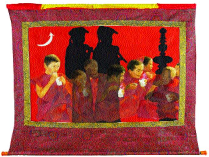 Sudhir Katkar's 'Thhanka artwork' leads to attention | सुधीर काटकर यांच्या 'थंका कलाकृती' ठरताहेत लक्षवेधी