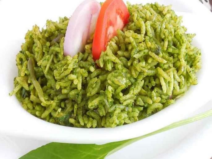 recipe of soya spinach pulao | ये सोया पालक पुलाव खाया, तो मजा आ गया !