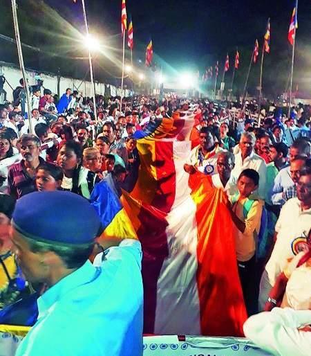 128 meter Panchasheel flag brought from Visakhapatnam | विशाखापट्टणमहून आणला १२८ मीटर पंचशील ध्वज