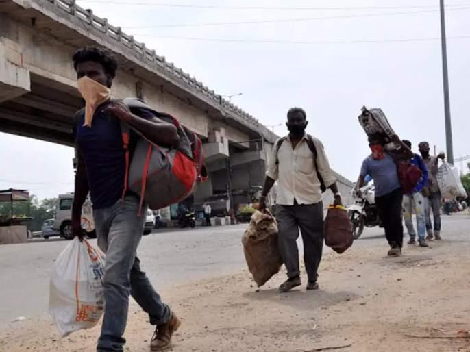 The condition of the laborers in the lockdown is dire; Workers who have gone home are eager to return to Mumbai | लॉकडाऊनमध्ये मजुरांची स्थिती विदारक;घरी गेलेले मजूर मुंबईत परतण्यास आतुर