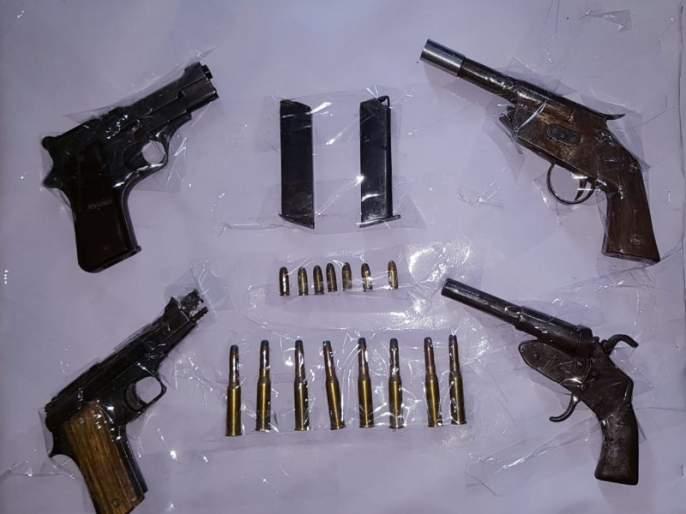 fake pistols, cartridges seized : accused arrested | देशी बनावटीची पिस्तुले, कट्टे, काडतूस हस्तगत : आरोपी जेरबंद