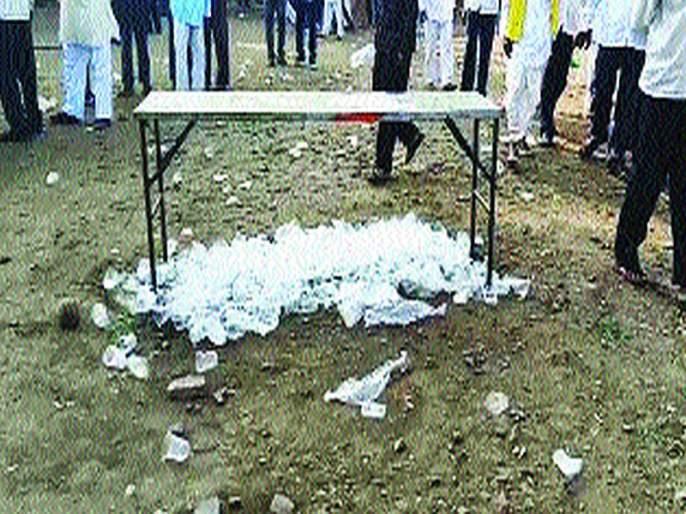 Maharashtra Election 2019: Use of Plastics in Public Meeting Ten thousand penalty to nationalist | Maharashtra Election 2019 : जाहीर सभेत प्लास्टीकचा वापर;राष्ट्रवादीला दहा हजारांचा दंड