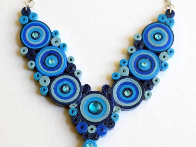 Necklace of paper beads you do, give it to the mother ..! | घरबसल्या एकदम भारीतला नेकलेस करायचा का?