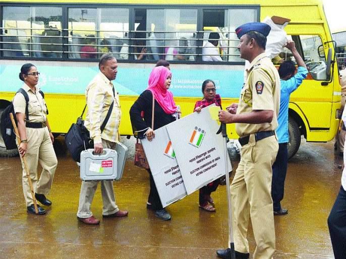 Border security also deployed additional pieces of state reserve force | Maharashtra Election 2019: जिल्ह्यात कडेकोट बंदोबस्त; सीमा सुरक्षा, राज्य राखीव दलाच्या अतिरिक्त तुकड्याही तैनात