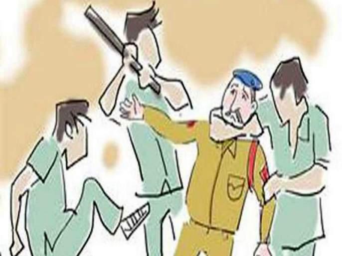 Wadalgaon: A 'gunfight' on 'Khakee' attack on the night | वडाळागाव : 'खाकी'वर सराईत गुंडाचा रात्री हल्ला