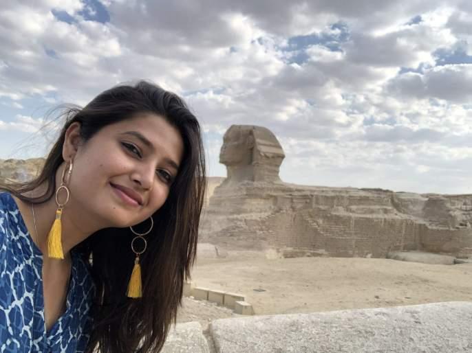 Great, Grand, Selfie, shared with Prajakta Mali, Ladies Actress | प्राजक्ता माळीने शेअर केला ग्रेट,ग्रँड,सेल्फी, पाहा कुठे भटकंती करतेय रसिकांची लाडकी अभिनेत्री