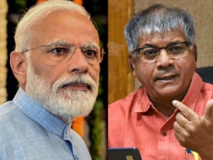prakash ambedkar criticized pm narendra modi over corona vaccine | मोदींचा हिंदूंवर विश्वास नाही, ख्रिश्चन नर्सकडून कोरोना लस घेतली: प्रकाश आंबेडकर