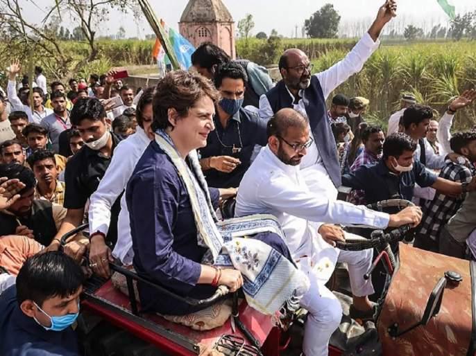 "Congres leader priyanka gandhi criticize pm narndra modi central government farmers protest mahapanchayat | Farmers Protest : ""जोवर ताकद तोवर लढणार, १०० दिवस असो किंवा १००..."""