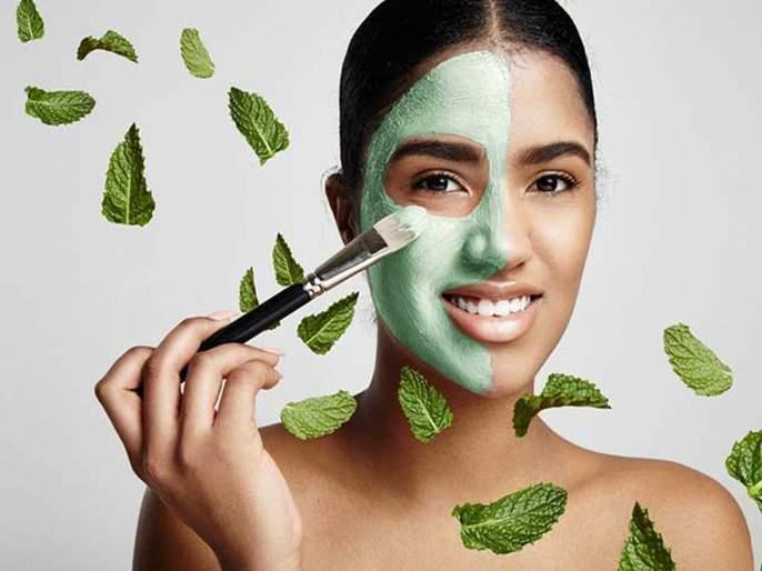 Beauty tips pudina and gulab jal face pack for skin care or healthy skin   बदलत्या वातावरणात पुदिना आणि गुलाब पाण्याचा फेसपॅक वापरा; सर्व समस्या दूर करा