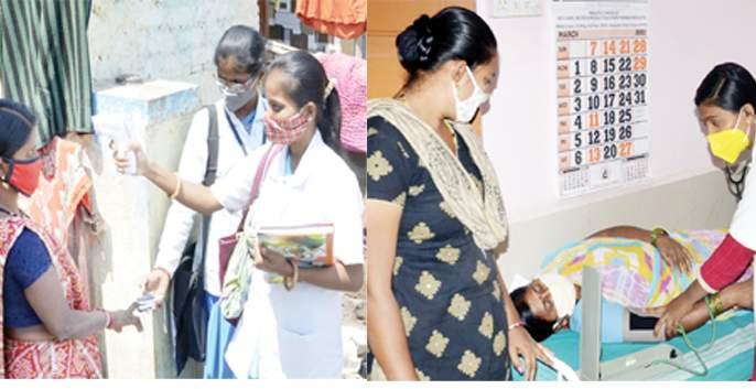 Pooja Anyasmin Corona working day and night in the patient care | पोटातला जीव सांभाळत पूजा अन् यास्मीन कोरोना रुग्णसेवेत अहोरात्र कार्यरत