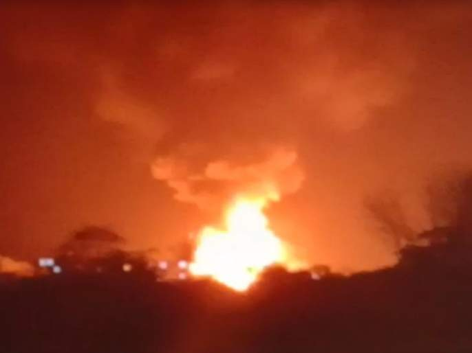 The fire broke out at a chemical company in Kurkumbh | कुरकुंभ येथील रासायनिक कंपनीला भीषण आग