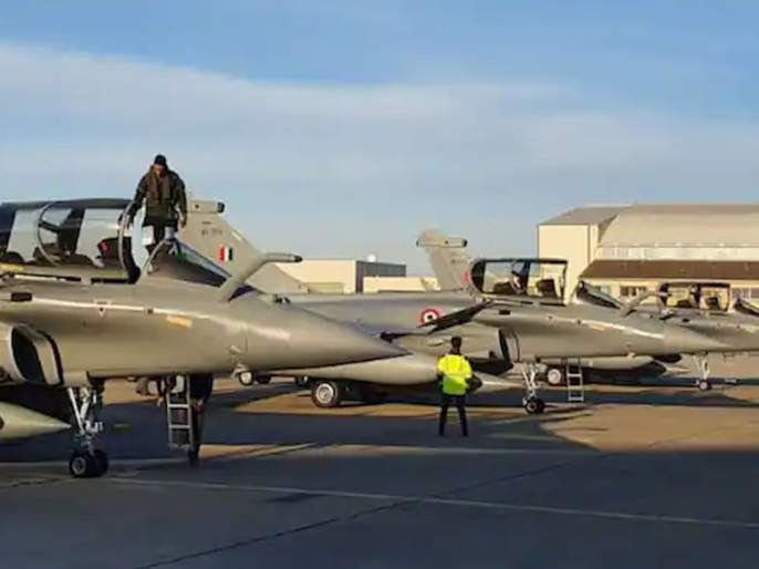 four more rafale aircraft arrive in india from france first squadron of rafale aircrafts completed | बलसागर भारत होवो! भारतात आणखी ४ राफेल विमानं दाखल; पहिली स्क्वॉड्रन पूर्ण
