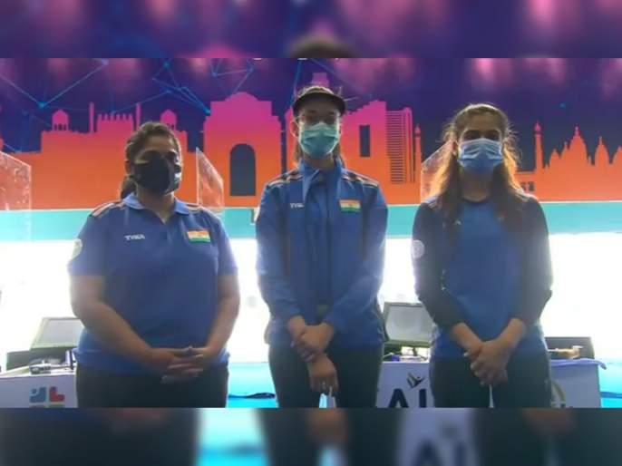 Shooting World Cup: Chinki Yadav pips Rahi Sarnobat and Manu Bhaker as India sweep women's 25m pistol event   Shooting World Cup: नेमबाजी वर्ल्ड कप स्पर्धेत महाराष्ट्राच्या राही सरनोबतनं जिंकलं रौप्यपदक!