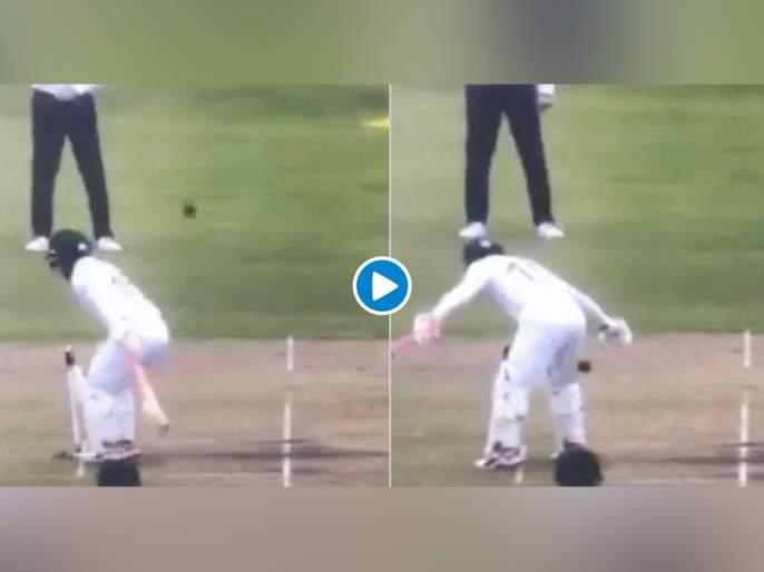 Video : Mushfiqur Rahim shields the stumps awkwardly with his rear side svg   Video : Out होऊ नये म्हणून असं कोण करतं का राव? पाहा मुश्फीकर रहिमनं काय केलं