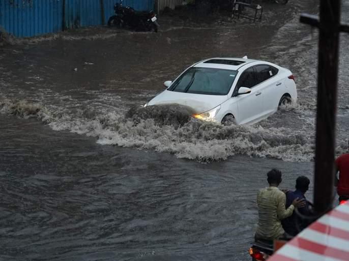 In the city, there is heavy rain: 90 mm of rain in two hours   नगर शहरात अतिवृष्टी : दोन तासांत तब्बल ९० मिलीमीटर पाऊस