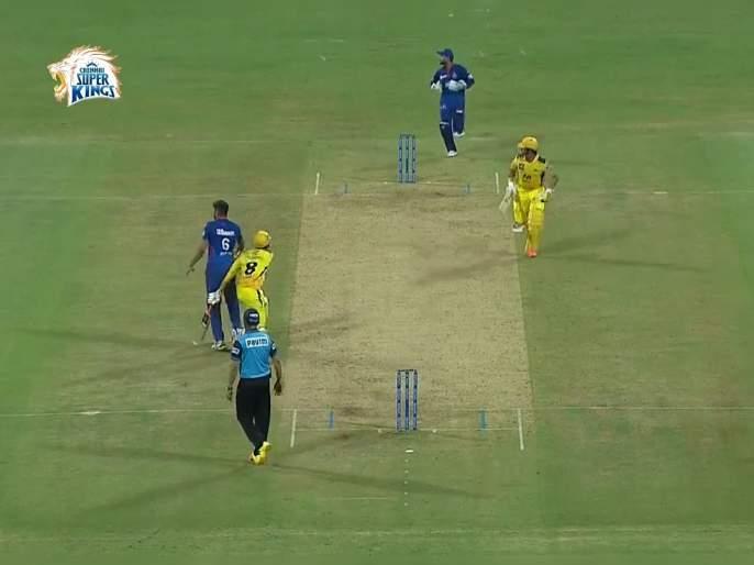 IPL 2021 CSK vs DC Live T20 Score: R Jadeja stumbles into the bowler as he turned back for the second, Suresh Raina Run OUT, Video | IPL 2021 : CSK vs DC T20 Live : गोलंदाज आडवा आला अन् सुरेश रैना धावबाद झाला, नव्या वादाची चिन्ह, Video