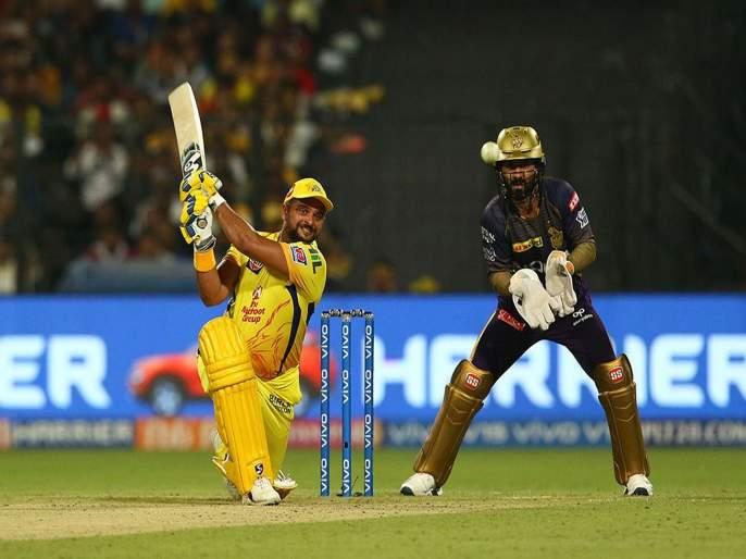 IPL 2019 KKR vs CSK: Chennai Super Kings beat Kolkata Knight Riders by 5 wicket | IPL 2019 KKR vs CSK : कोलकाताची पराभवाची हॅटट्रिक, चेन्नई प्ले ऑफच्या उंबरठ्यावर