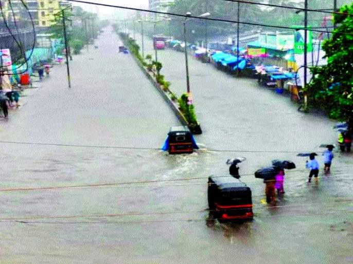Raindrops; Aided by the human chain | डहाणूत पावसाचे धूमशान; मानवी साखळीच्या साहाय्याने केली मदत