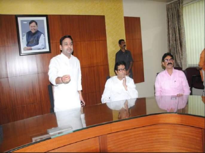 Meeting between Vishwajeet Kadam and Raj thackeray   विश्वजीत कदम-राज ठाकरे यांच्यात गुफ्तगू, बंद खोलीत पंधरा मिनिटे चर्चा