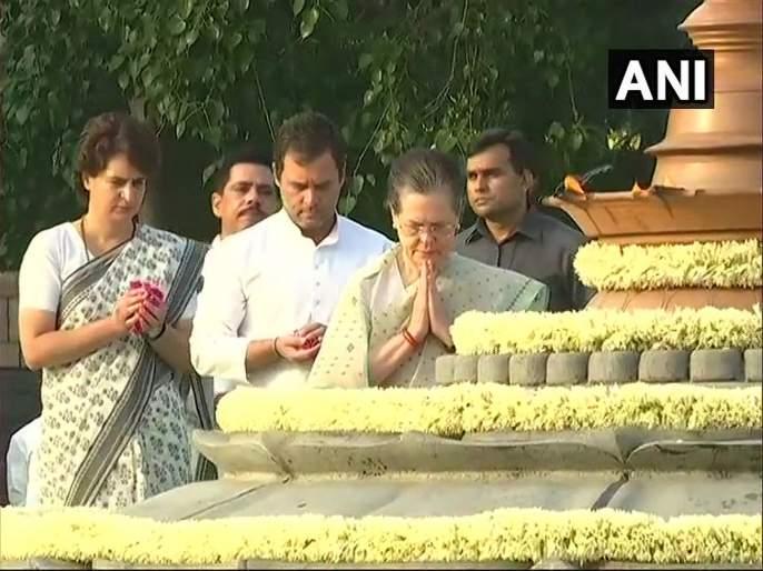 Sonia Gandhi, other Congress leaders pay tributes to Rajiv Gandhi on his death anniversary | माजी पंतप्रधान राजीव गांधी यांची पुण्यतिथी; सोनिया गांधी, राहुल गांधींनी वाहिली आदरांजली
